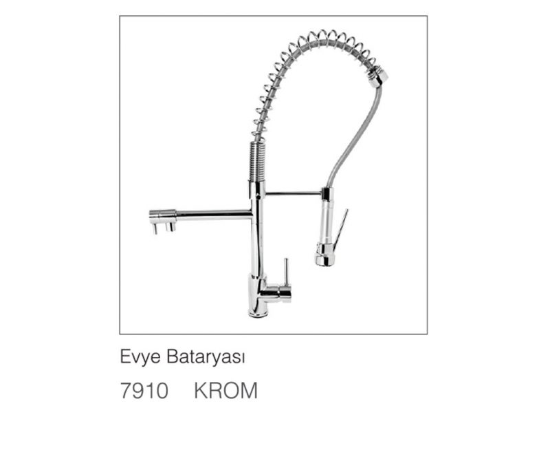 Fym Banyo Bathroom Accessories Batarya Serisi Industrial Sinks Batteries Evye Bataryası Krom 7910