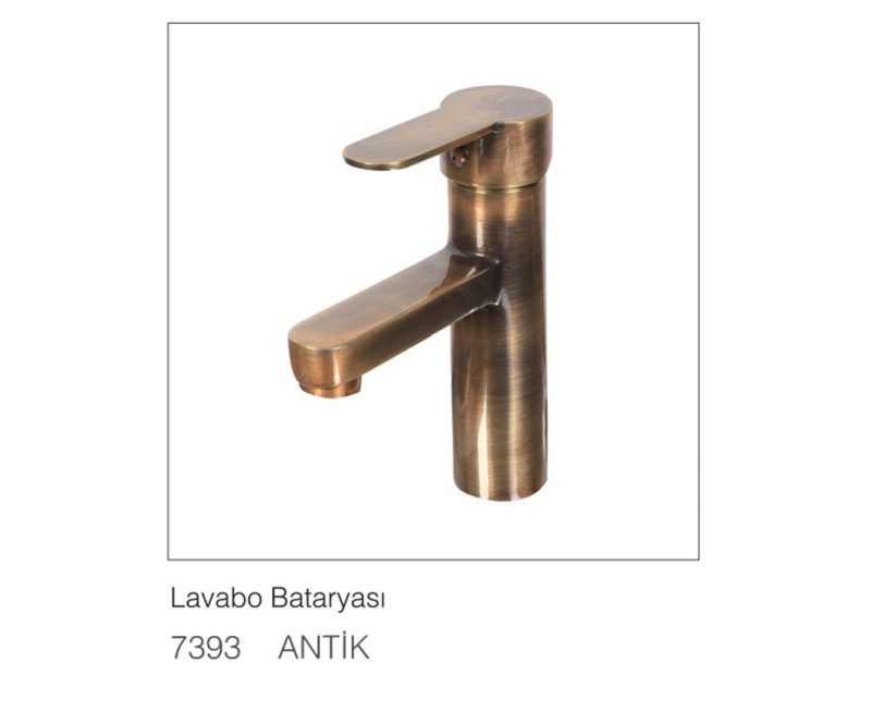 Fym Banyo Bathroom Accessories Batarya Serisi Rose Antique Lavabo Bataryası Antik 7393