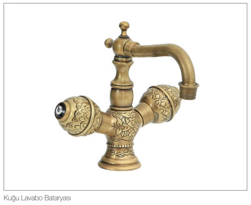 Fym Banyo Bathroom Accessories Batarya Serisi Victorian Ball Antique Series Kuğu Lavabo Bataryası 8512